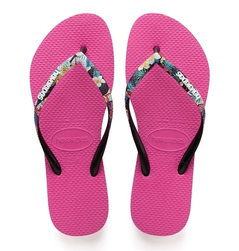 Havaianas Slim Strapped Floral - Pink/Multi