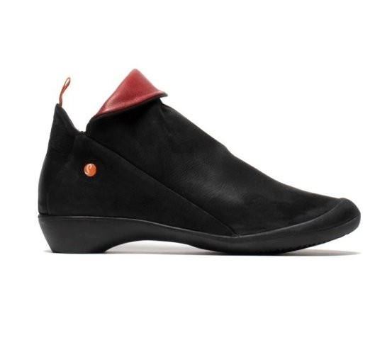 Softinos Farah Ankle Boot - Black/Red