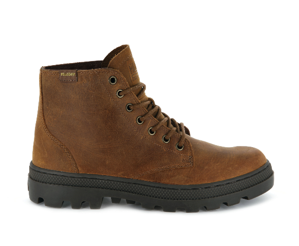 Palladium Pallabosse Mid Leather Boot - Sunrise/Tan