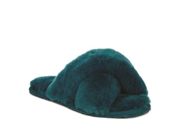 Emu Mayberry Sheepskin Slippers-Teal