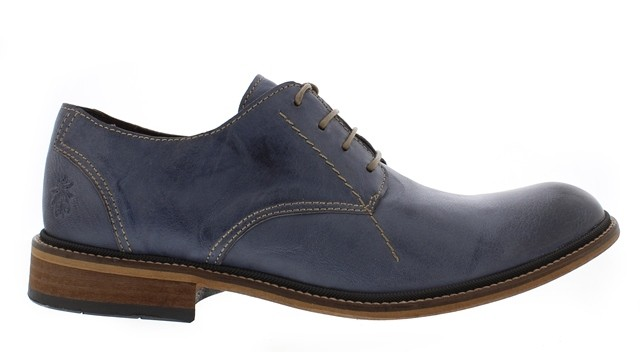 Fly London HOCO in Washed Jeans Blue Leather