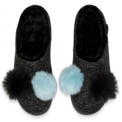 Toms Women's Ivy Pom Pom slippers -Black