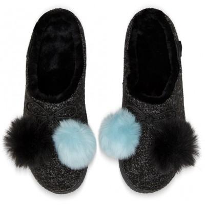 Toms Women's Ivy Pom Pom slippers -Black