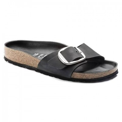 Birkenstock Madrid Big Buckle - Black leather
