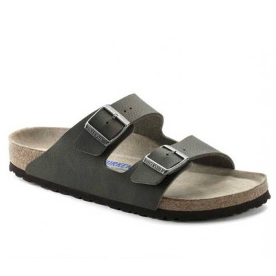 Birkenstock Men's Arizona in Green with Soft Footbed
