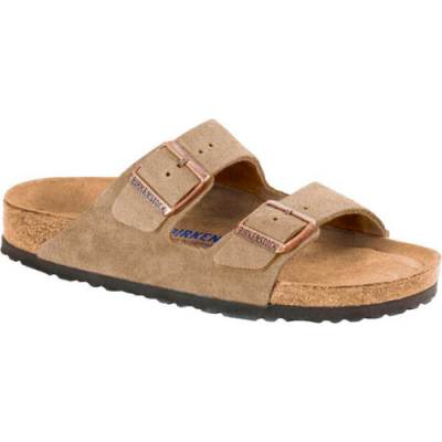 Birkenstock Men's Arizona - Taupe Suede