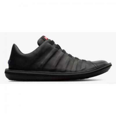 Camper Beetle Shoe - Black Leather
