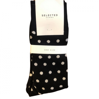 SELECTED Homme Socks - Black/Grey Spots