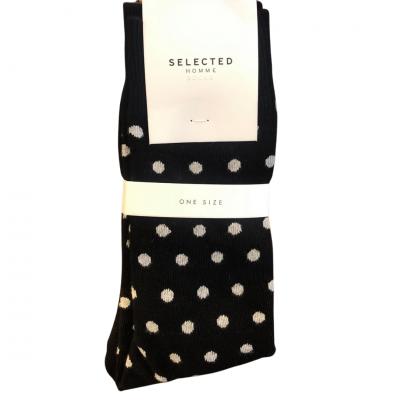 SELECTED Homme Socks - Black/Grey Spots