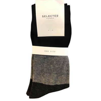 SELECTED Homme Socks - Black/Grey