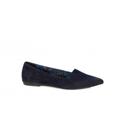 Vagabond Aya Women's Suede Pointed Pump Navy