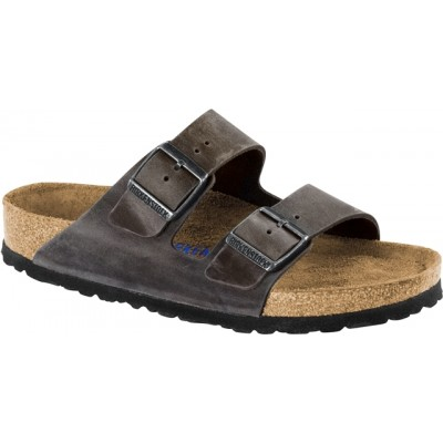 Birkenstock Arizona - Iron Leather
