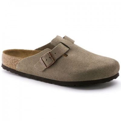Birkenstock Boston - Taupe Suede