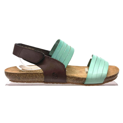 Yokono Beach 142 Sandal - Brown/Turquoise