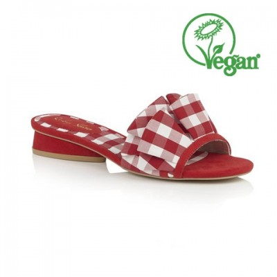 Ruby Shoo Alena Mule - Red Gingham - Vegan