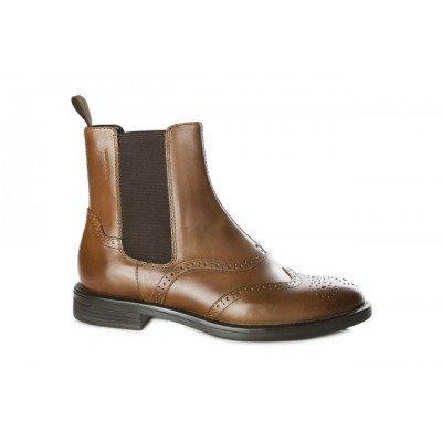 Vagabond Amina Brogue Boot - Cognac