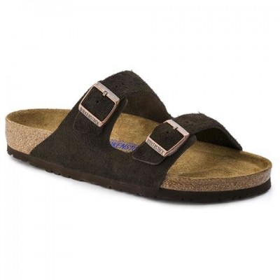 Birkenstock Arizona Mocha suede- soft footbed