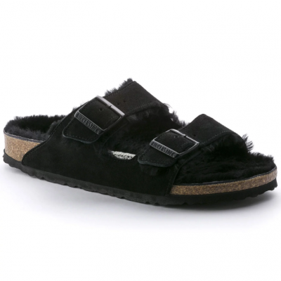 Birkenstock Arizona Fur - Black