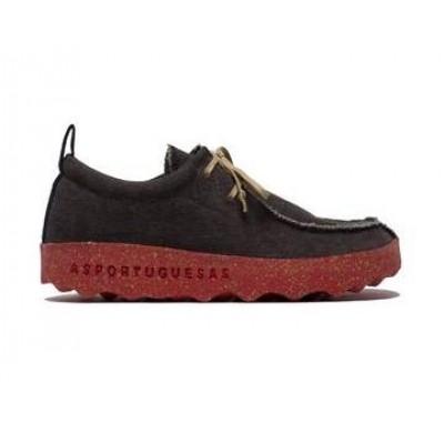 Asportuguesas Chat Lace Shoe - Black/Red