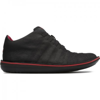 Camper Ribbed Beetle Boot - Black/Red