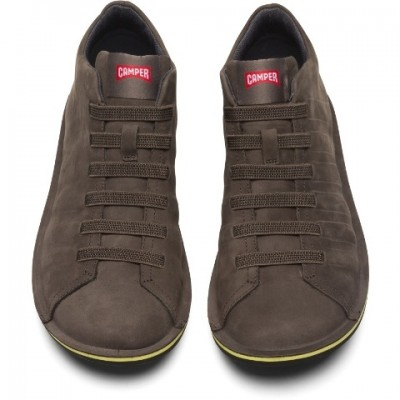 Camper Beetle Ribbed Shoe - Grey Nubuck