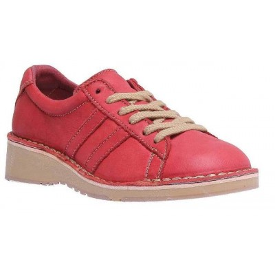 Fly London Camm retro trainer-Red Leather