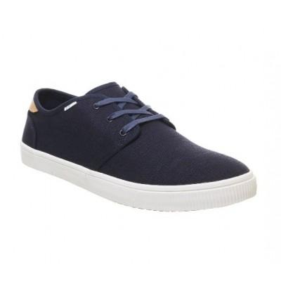 Toms Carlo Navy Canvas deck shoe