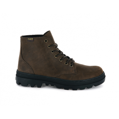 Palladium Pallabosse Mid Leather Boot - Chocolate