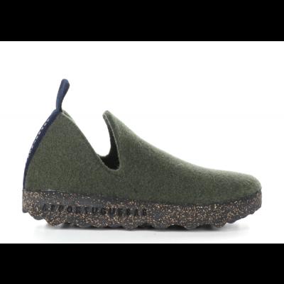 Asportuguesas City wool slipper- military green