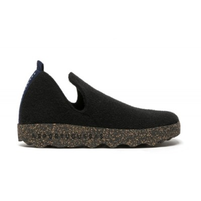 Asportuguesas City wool slipper- Black