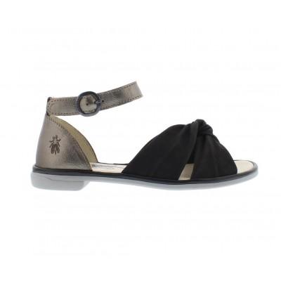 Fly London Cofa Sandal-Black/Bronze