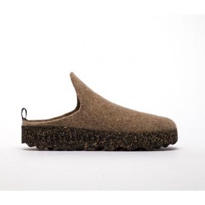 Asportuguesas Come wool slipper- Taupe