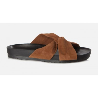 Vagabond Erie Womens Suede Sandal Tan/Rust