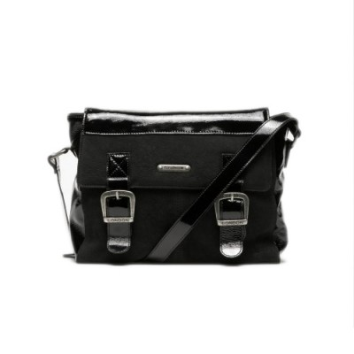 Fly London Dali Leather messenger bag-Black