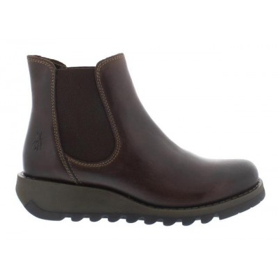 Fly London Salv Brown Leather Chelsea Boot