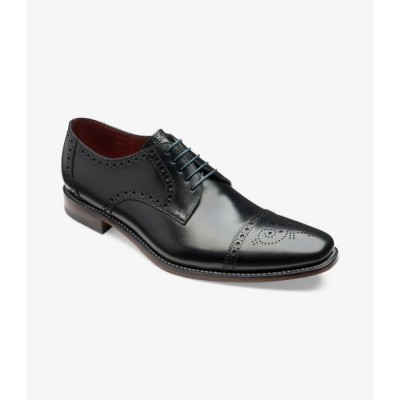 Loake Men's Foley in Black Leather