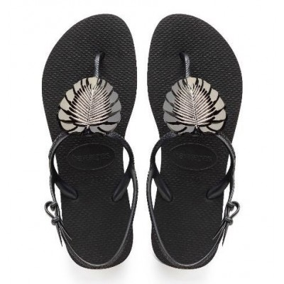 Havaianas Freedom Metal Pin - Black Leaf
