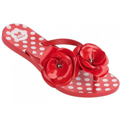 Zaxy Fresh Bloom Flower sandal-Red