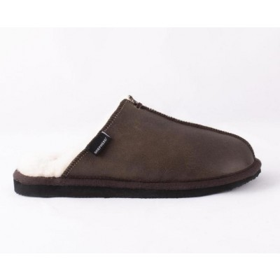 Shepherd of Sweden Hugo Slipper - Antique Brown