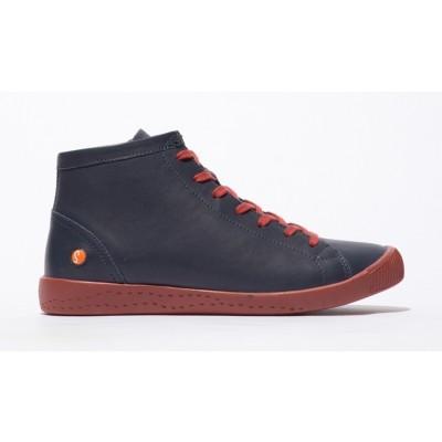 Softinos Ibbi High Top- Navy/Brick Red