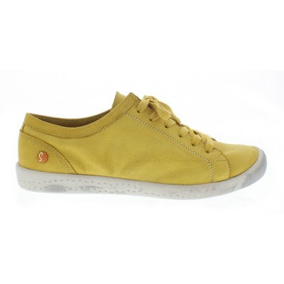 Softinos Isla soft lace up shoe in yellow