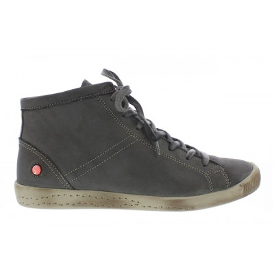 Softinos Isleen Hi Top in Washed grey leather