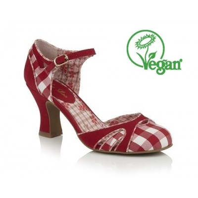Ruby Shoo Jeraldine - Red -Vegan