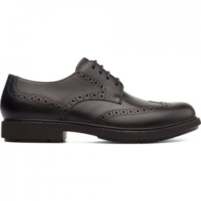Camper Neuman Brogue Shoe - Black