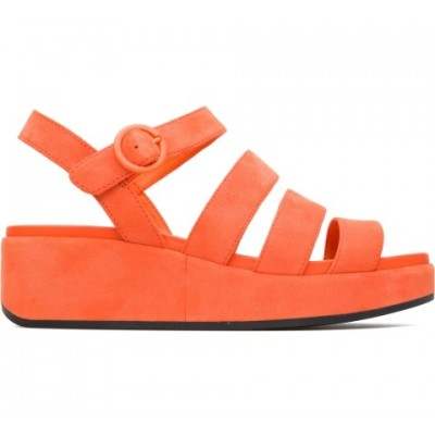Camper Misia Sandal - Orange Suede