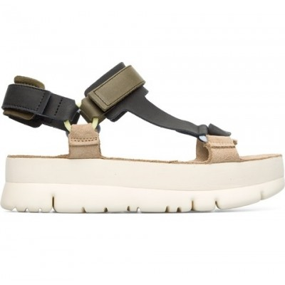 Camper Oruga Up Sandal - Black/Beige