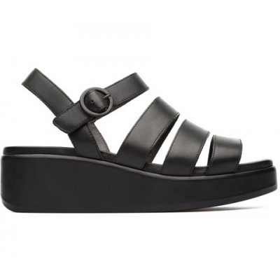 Camper Misia Sandal - Black Leather