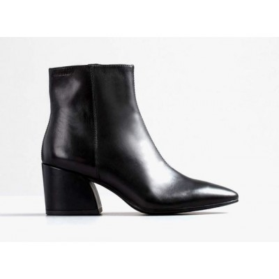 Vagabond Olivia Zip Boot Black Leather