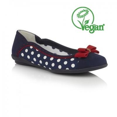 Ruby Shoo Lizzie - Navy Spots - Vegan