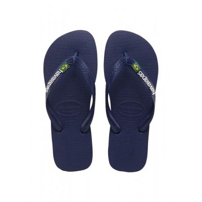 Havaianas Mens Brasil Logo Flip Flop-Navy